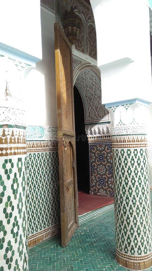 摩洛哥人设计和传统建筑学 图库摄影