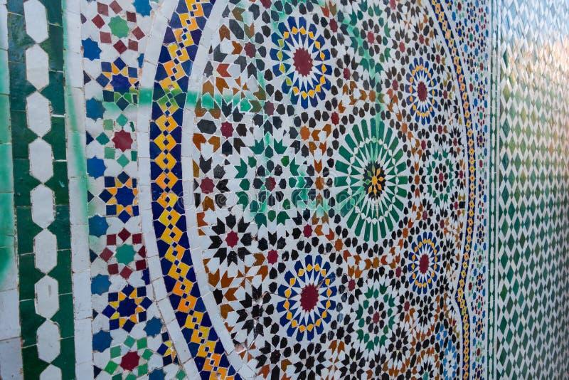 摩洛哥传统zellige 库存图片