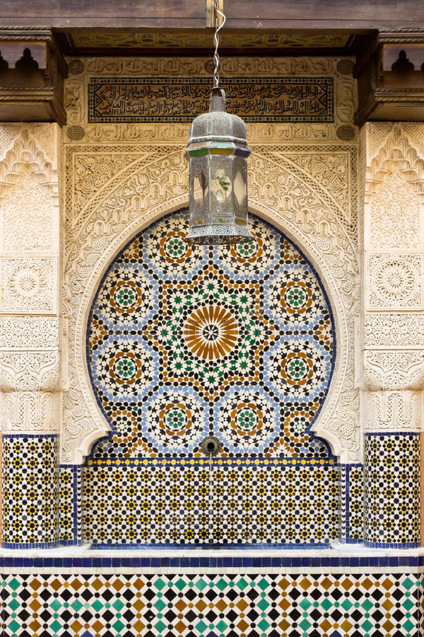 摩洛哥喷泉 库存图片
