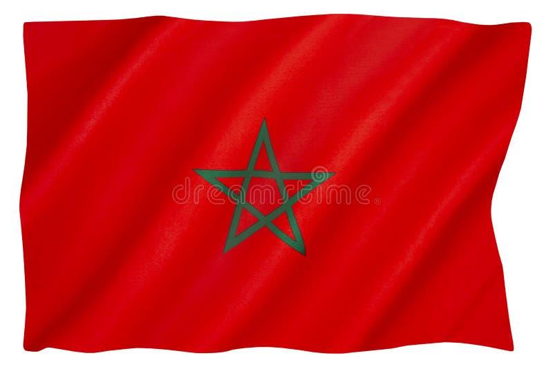 摩洛哥国旗 免版税库存图片