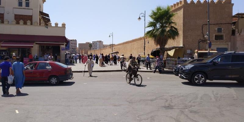 摩洛哥奥伊达外的梅迪纳 免版税图库摄影