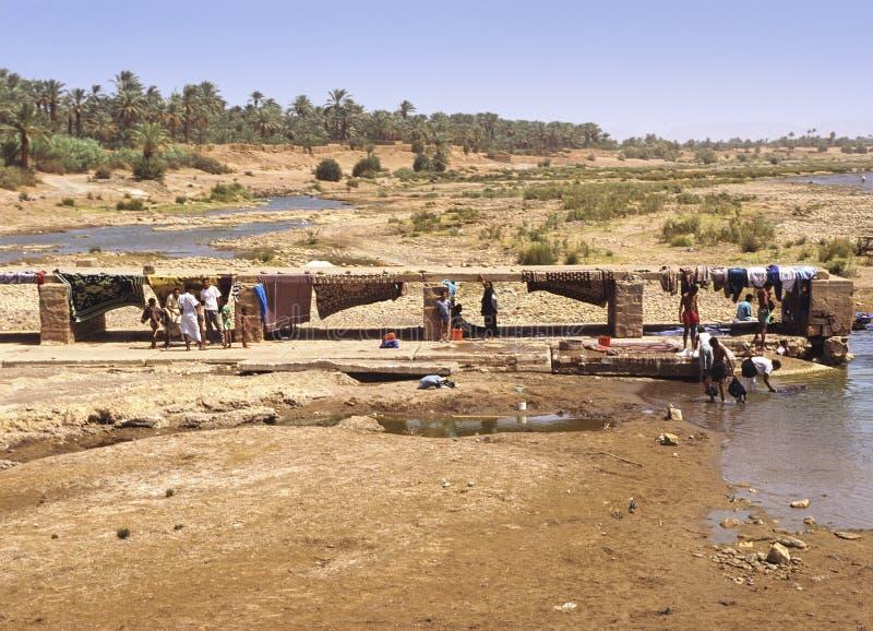 摩洛哥安排洗涤物 库存图片