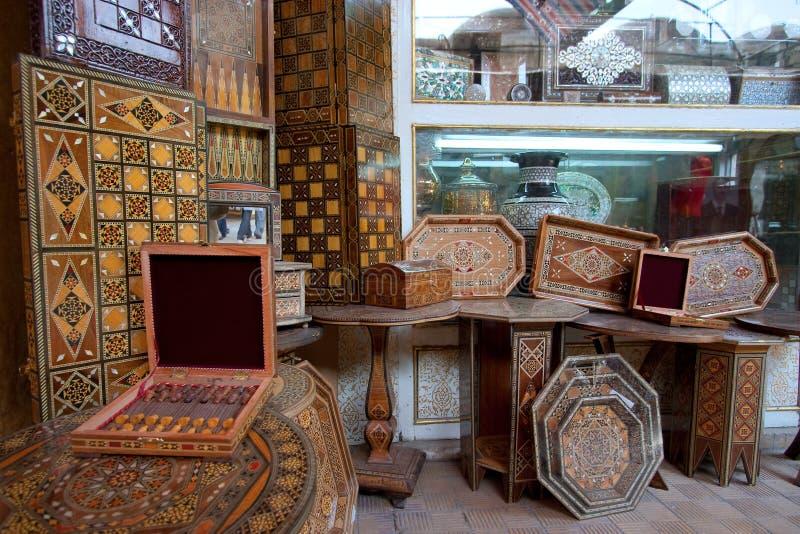 摩洛哥市场,大马士革 免版税库存图片