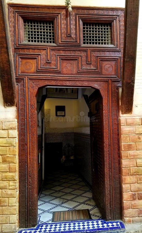 摩洛哥建筑学-装饰艺术  图库摄影