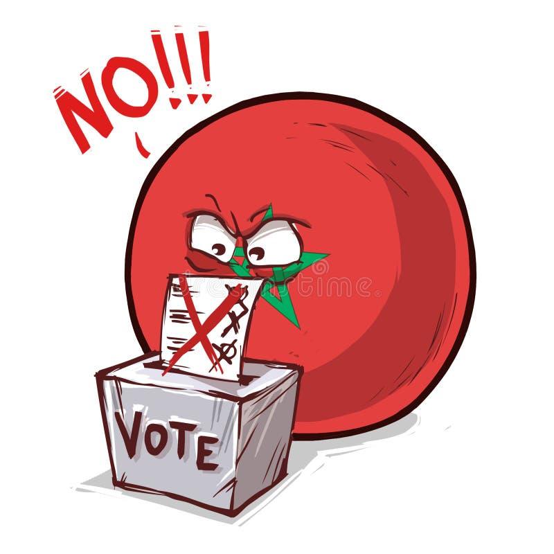 摩洛哥投反对票国家的球 皇族释放例证