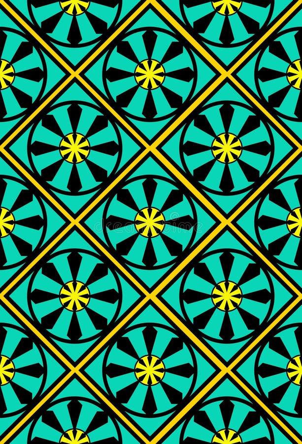 摩洛哥无缝的瓦片墙纸 向量例证