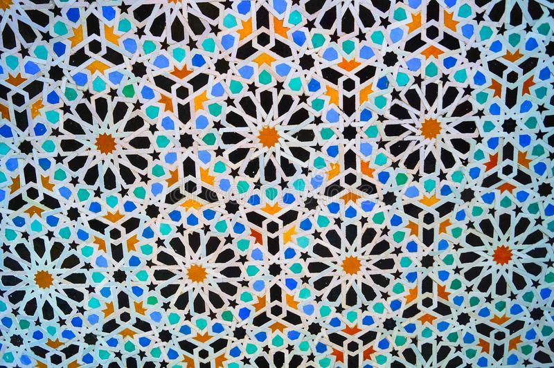 摩洛哥无缝的边界 传统伊斯兰教的设计 库存照片