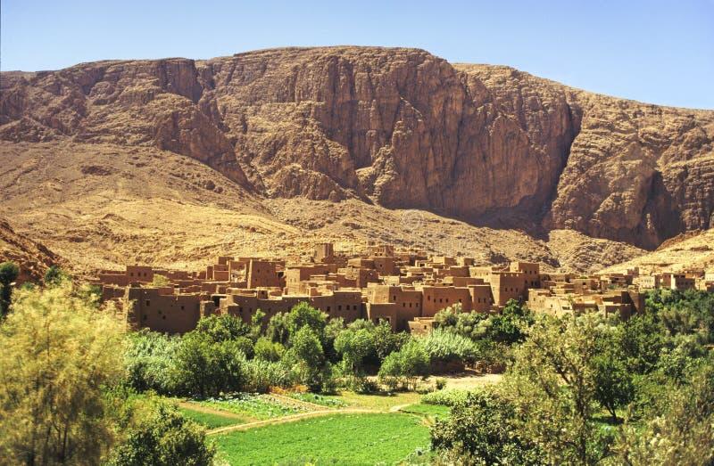 摩洛哥村庄 库存图片