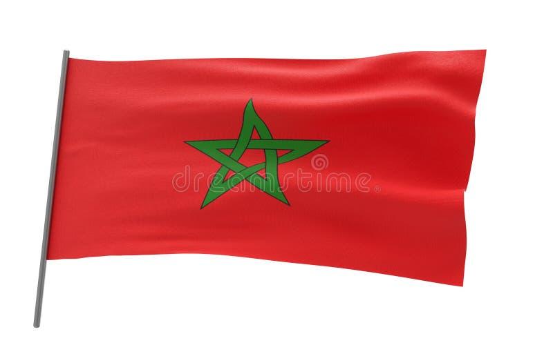 摩洛哥的旗子 向量例证