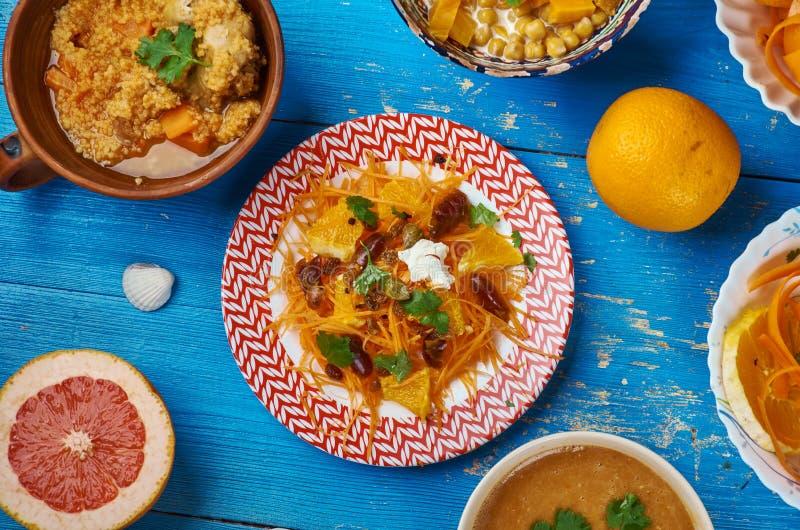 摩洛哥红萝卜沙拉用辣柠檬 库存图片