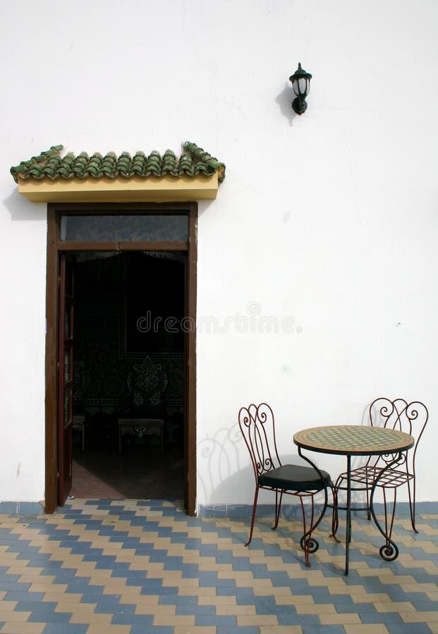 摩洛哥餐馆 图库摄影
