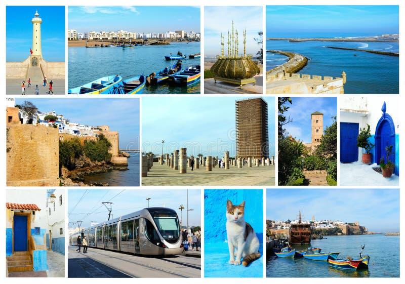 摩洛哥,旅行图象拼贴画的印象  免版税库存图片
