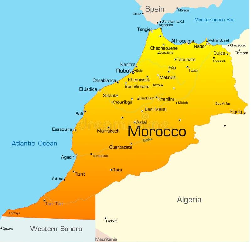 摩洛哥 向量例证