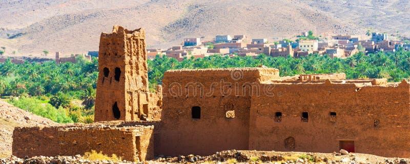 摩洛哥Zagora的Kasbah Taourirt外墙 有选择性聚焦 库存图片