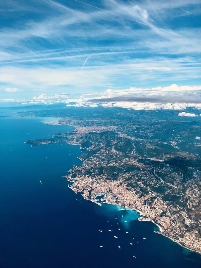 摩纳哥从上面 免版税库存照片