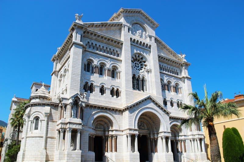 摩纳哥大教堂 库存照片