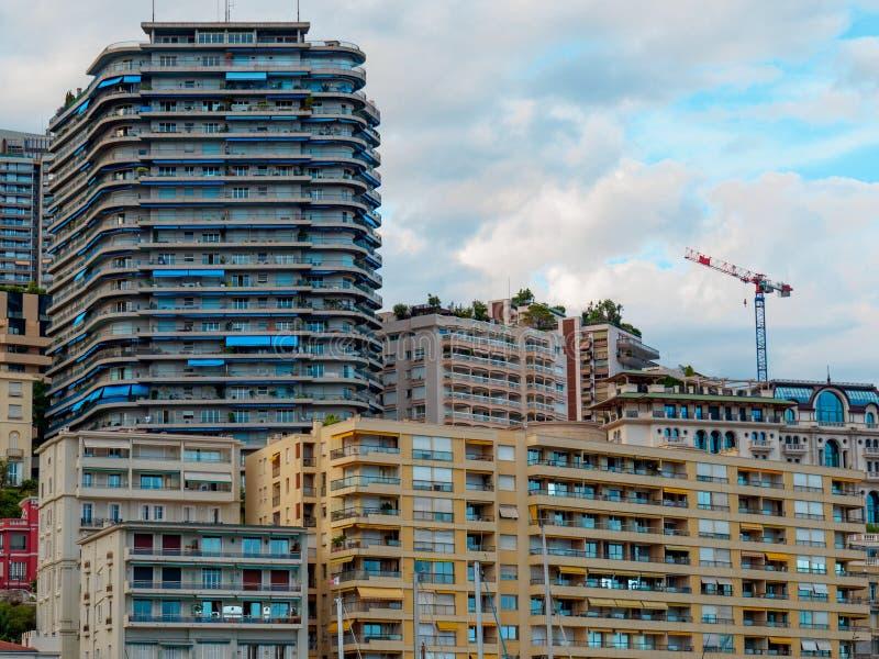 摩纳哥居民住房 图库摄影