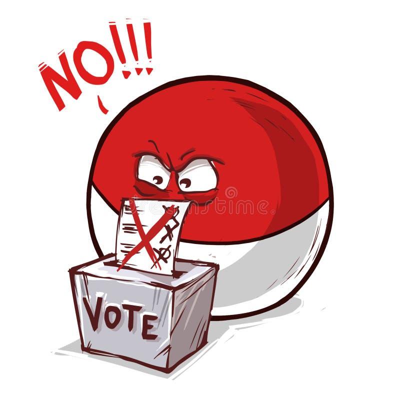 摩纳哥投反对票国家的球 皇族释放例证