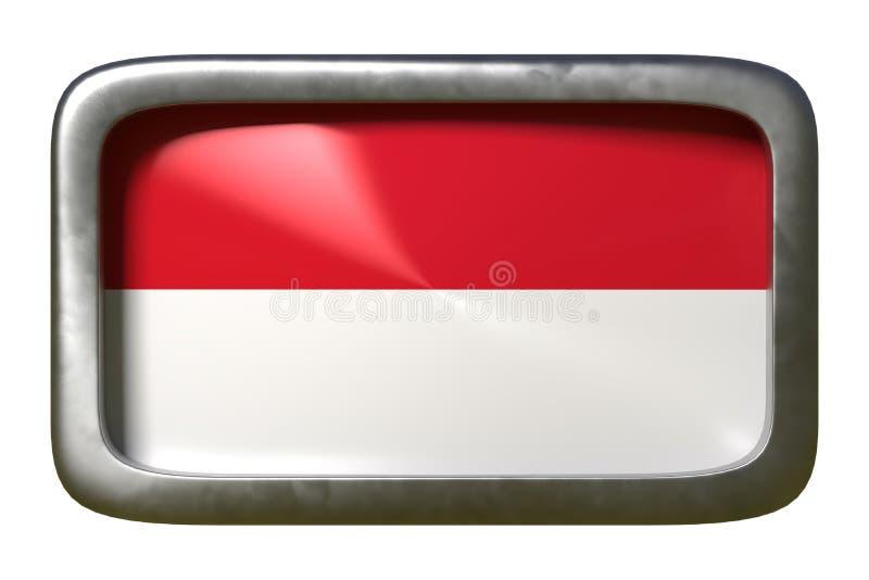 摩纳哥旗子标志 库存例证