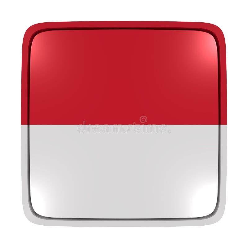 摩纳哥旗子象 皇族释放例证