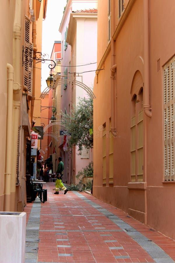 摩纳哥桃红色街道 免版税库存图片