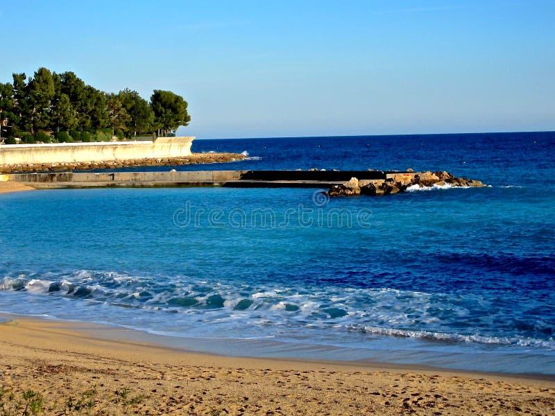摩纳哥海滩 库存图片