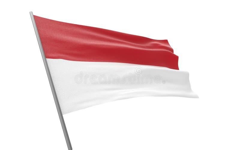 摩纳哥的旗子 库存例证