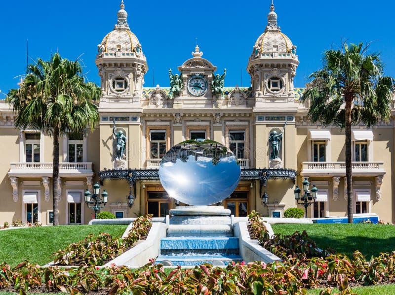 摩纳哥赌博娱乐场镜子盘 免版税库存照片