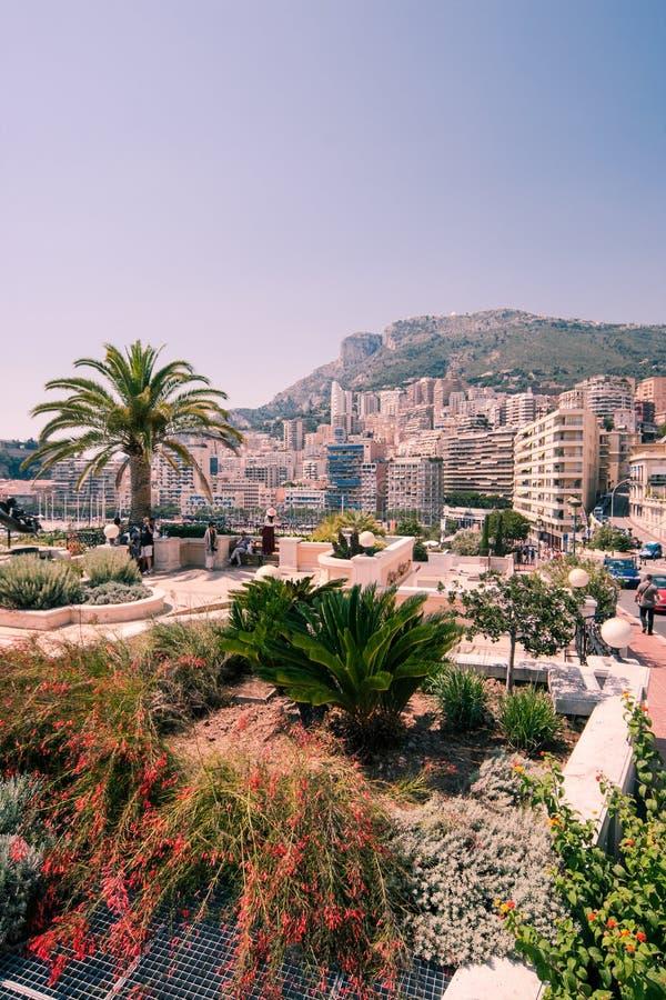 摩纳哥都市风景 免版税库存图片