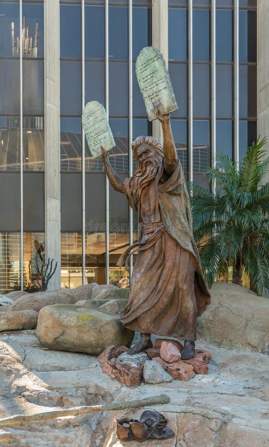 摩西雕象基督大教堂的在加登格罗夫,加利福尼亚 库存图片