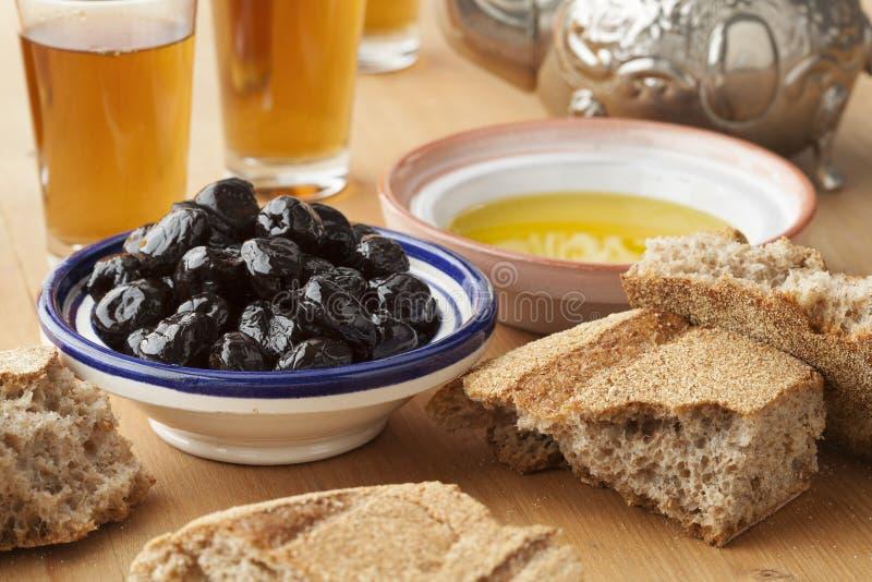 摩洛哥传统早餐 免版税库存图片