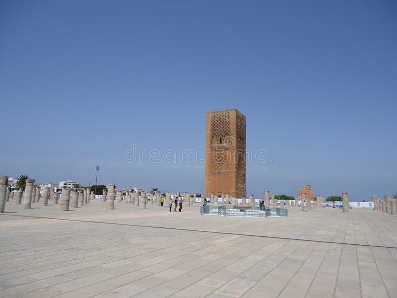 摩洛哥拉巴特地方游览哈桑 免版税图库摄影