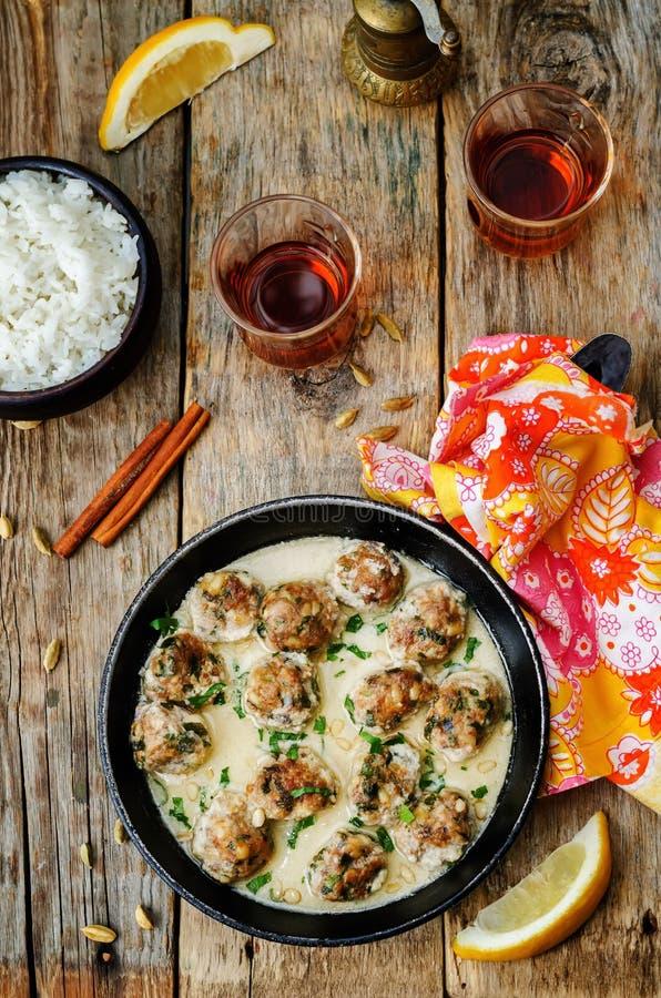 摩洛哥柠檬豆蔻果实丸子用米 免版税图库摄影