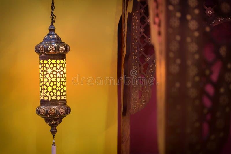 摩洛哥样式灯 免版税库存图片