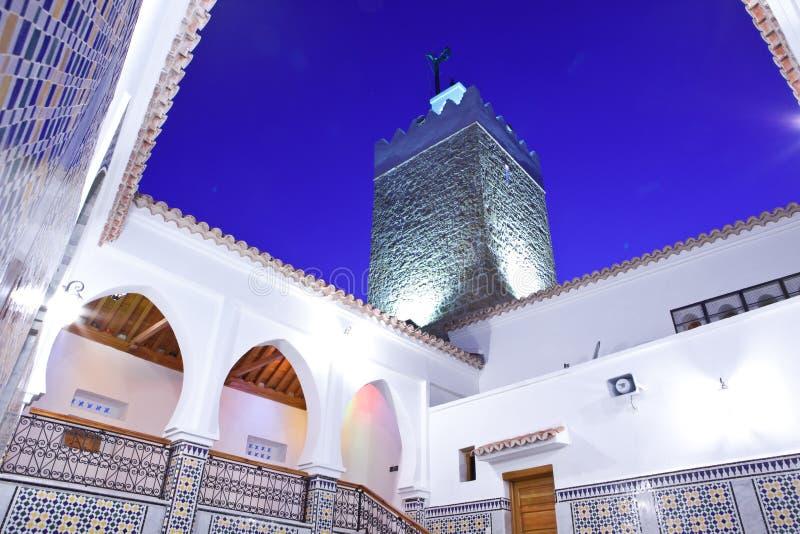 摩洛哥清真寺在Chefchaouen 库存照片