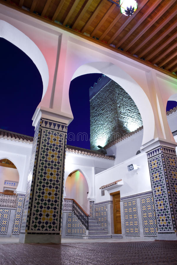 摩洛哥清真寺在Chefchaouen 免版税库存图片