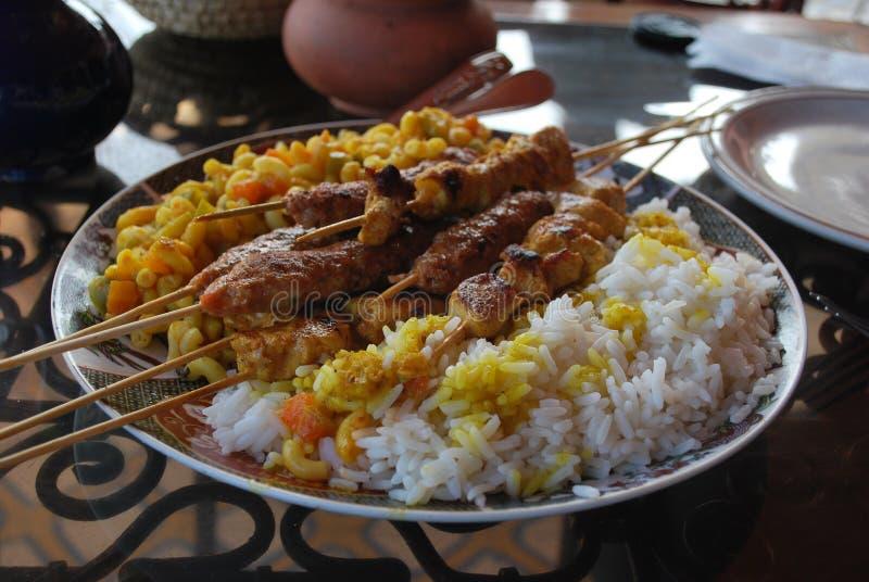 摩洛哥烤肉串 库存照片