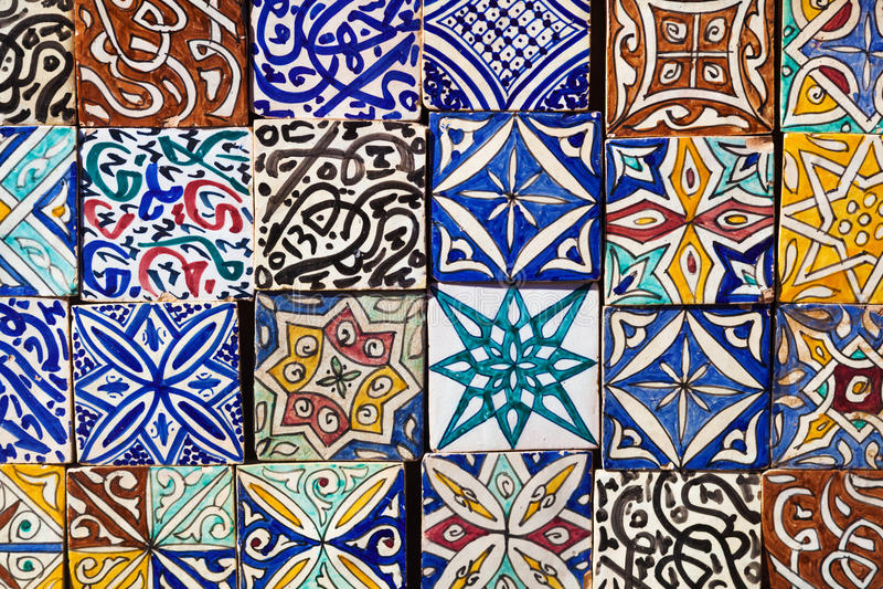 摩洛哥瓦片样式 图库摄影