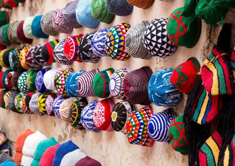 摩洛哥的五颜六色的纪念品 免版税图库摄影