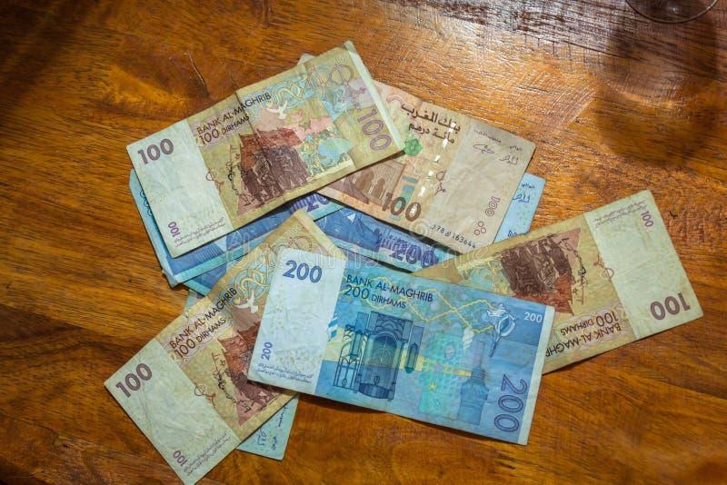 摩洛哥的迪拉姆 免版税库存照片