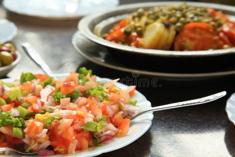 摩洛哥蕃茄沙拉 图库摄影