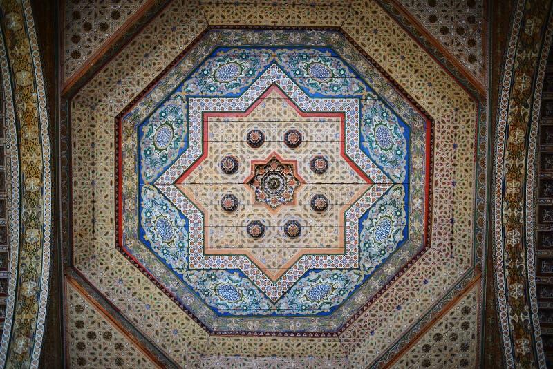 摩洛哥,马拉喀什 在El巴伊亚宫殿里面 库存图片
