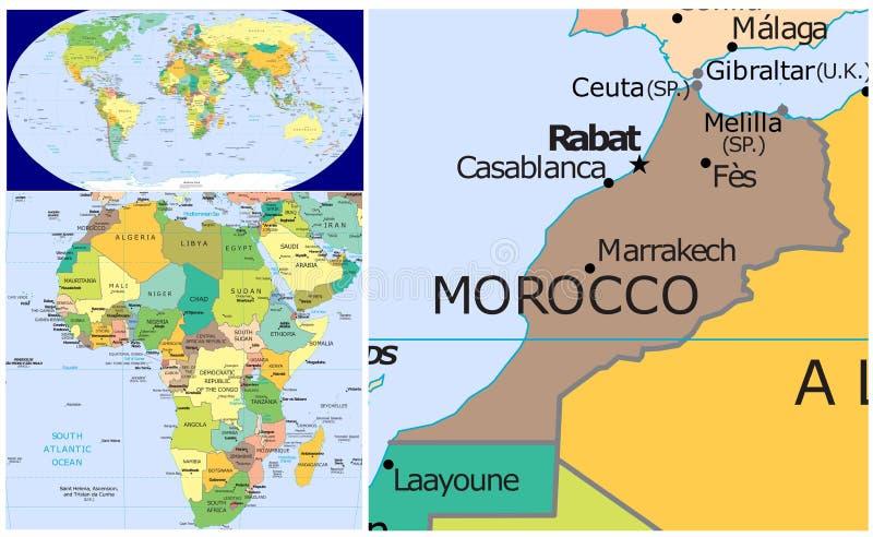 摩洛哥&世界 皇族释放例证