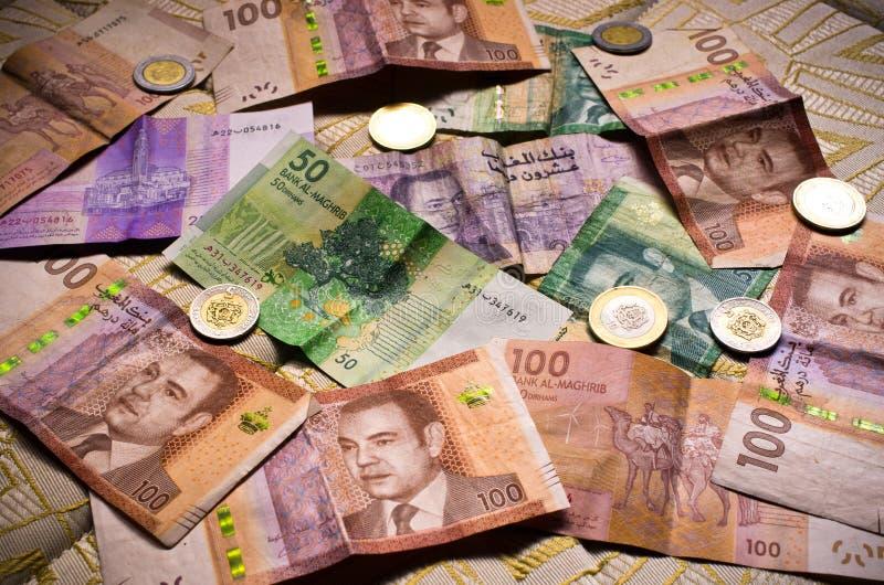 摩洛哥货币 免版税库存图片