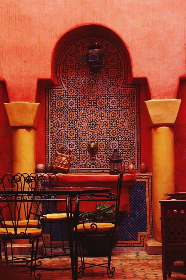 摩洛哥riad 免版税图库摄影
