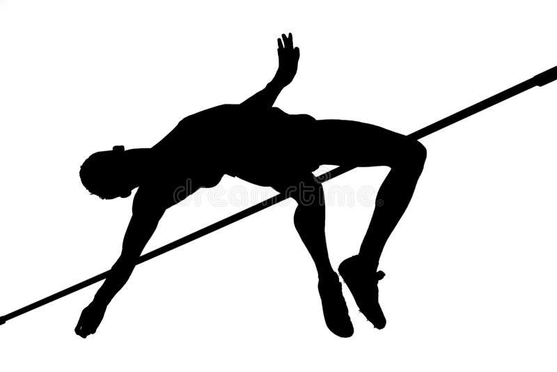 撑竿跳高竞争 免版税库存照片