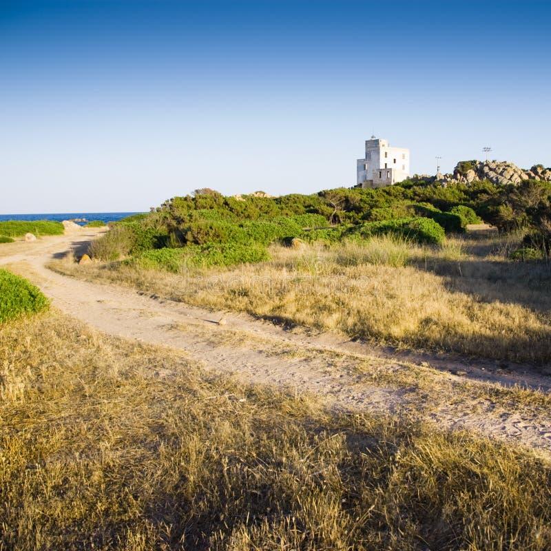 撒丁岛意大利的横向 免版税库存照片