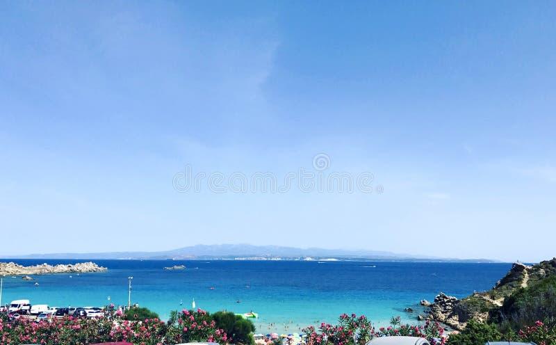 撒丁岛海滩 库存图片