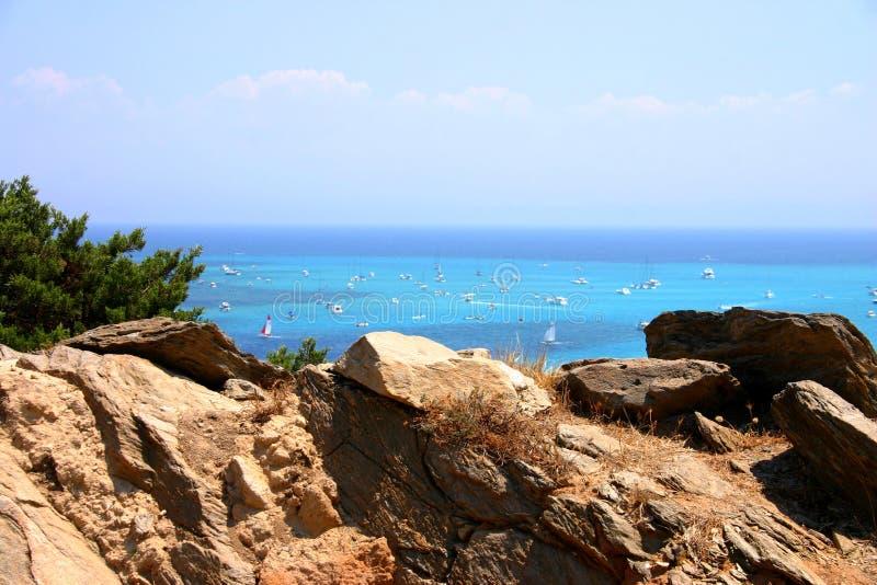 撒丁岛海运 库存图片