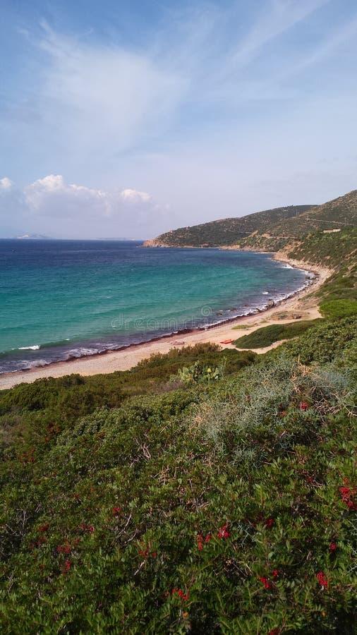撒丁岛海滩 免版税库存图片